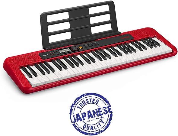 Casio CT-S200RD - Teclado de piano, Rojo : Amazon.es ...