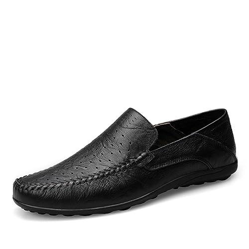 Hombre Mocasines Slip On Verano Agujero Transpirable Comodas Hilo de Coser Trabajo Zapatos: Amazon.es: Zapatos y complementos