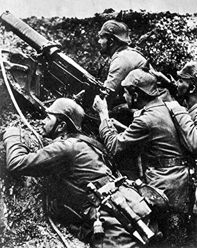 Posterazzi WWI German Machine Gun Crew Poster Print by Science Source (18 x 24) - Wwi Machine German Gun