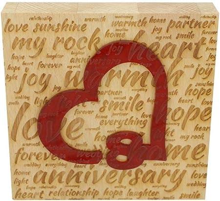 Regalo Per Anniversario Di Matrimonio 8 Anni.Blocco In Legno Di Faggio Per 8 Anniversario Di Matrimonio Con