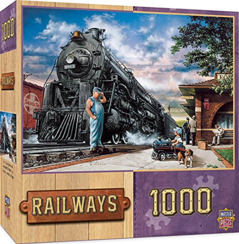 (MasterPieces Railways Jigsaw Puzzle, Whistlestop Dreams, 1000 Pieces)