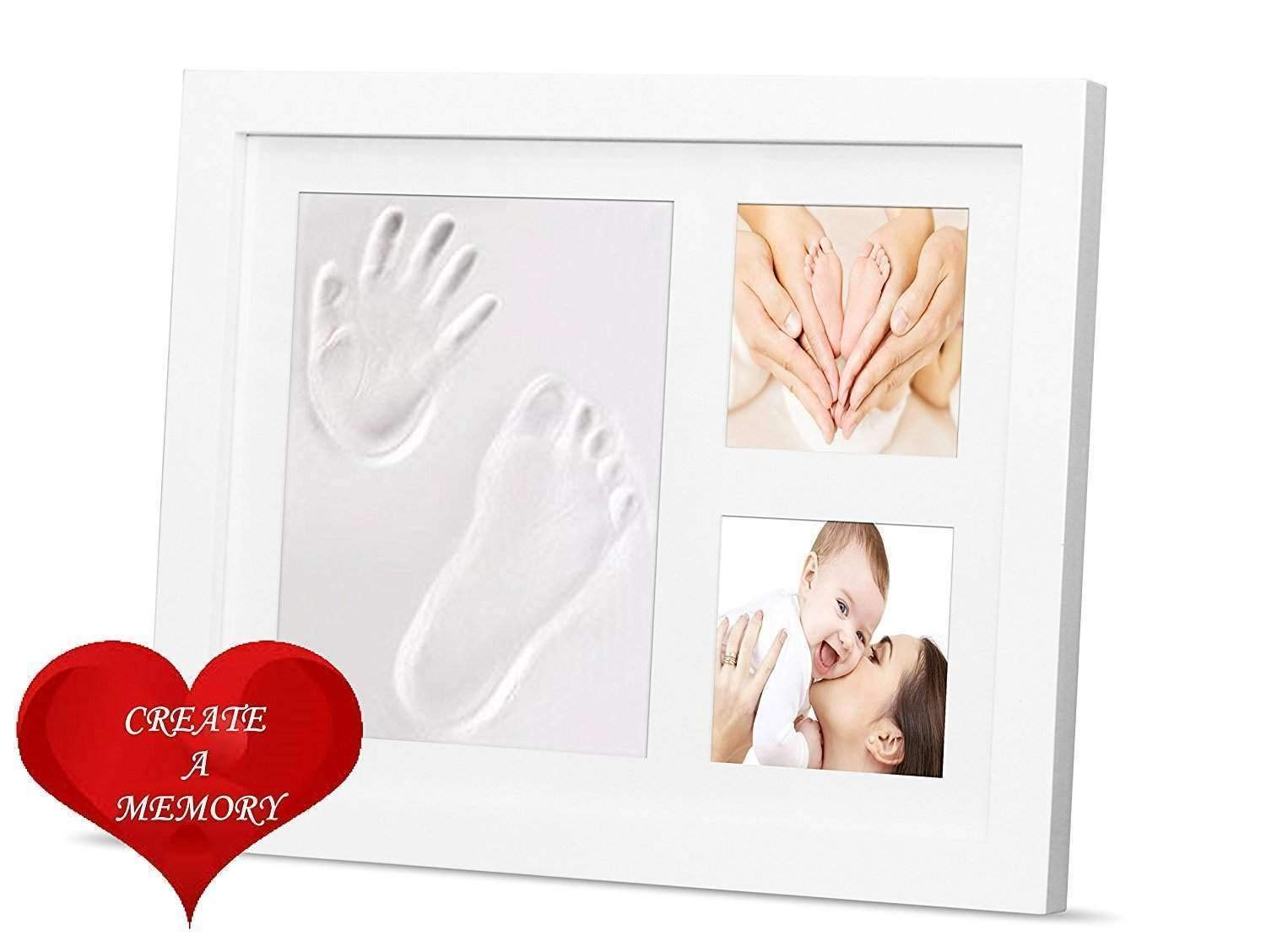 TraderPlus Newborn Baby Hand and Footprint Kit and Frame, Perfect for Baby Gifts, Personalized Table and Wall Photo Decoration