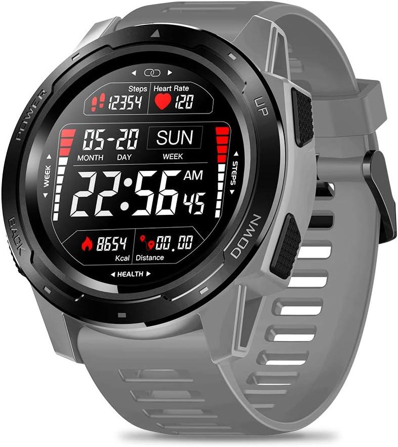 Festnight Zeblaze Reloj Inteligente Vibe 5 Reloj Inteligente para Mujer/Hombre Reloj Digital Pantalla IPS en Color 240 * 240 Píxeles Resolución IP67 Instantánea a Prueba sacudidas Monitor Ritmo