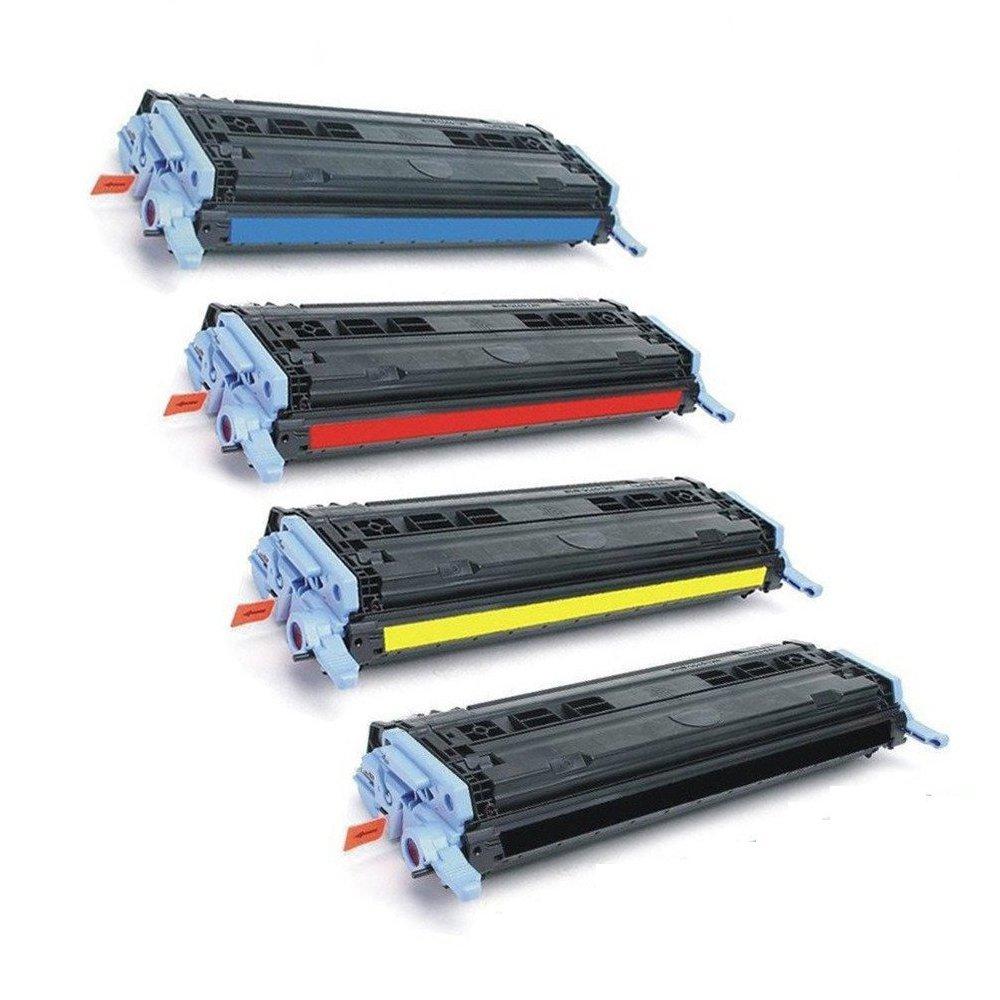 Comlatible Replacement for 4Pk HP 124A (Q6000A, Q6001A, Q6002A, Q6003A / Bk, C, Y, M) Toner Cartridges Color Set