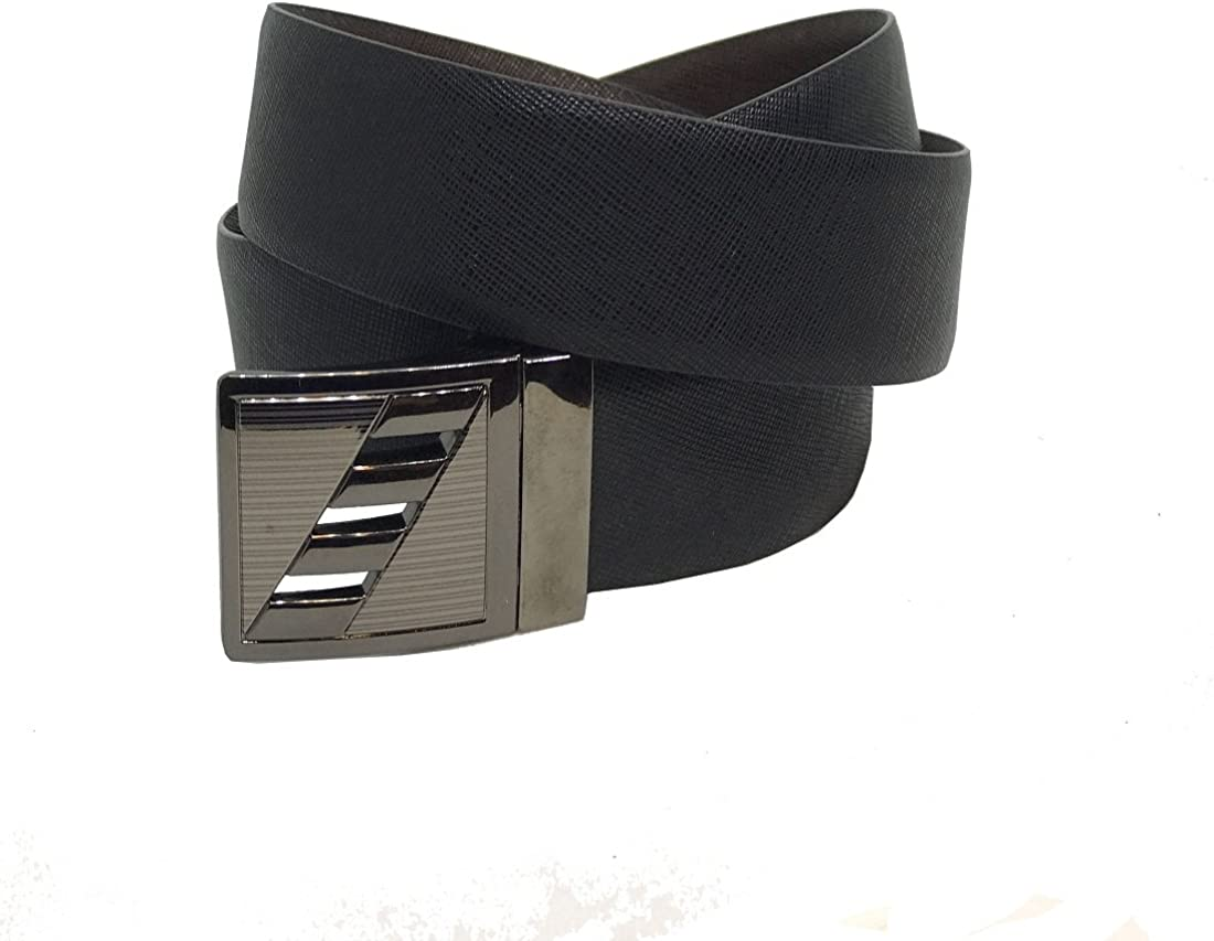 JL Collections Sufiano Men Formal Black and Brown Genuine Leather Reversible Belt