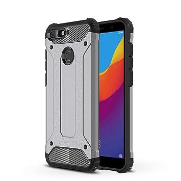 HUUH Funda Huawei Y6 2018/Honor 7A, Carcasa Funda de teléfono, Mano de Obra Exquisita,combinación TPU + PC,Protección teléfonos móviles(Gris)