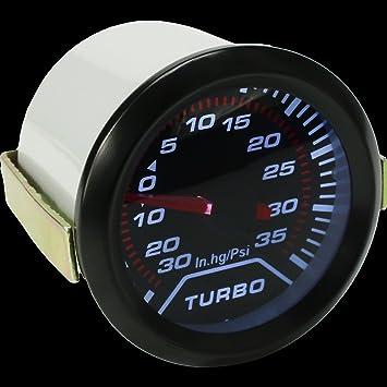 Tookie 2 Pulgadas 52 mm Universal Coche Auto LED Turbo Boost medidor de Presión de Vacío