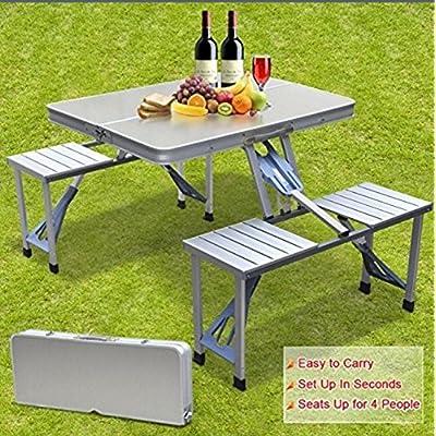 SmartLife haute en aluminium extérieur de qualité de Split pliante Tables et chaises barbecue Portable pique-nique Tables Chaises