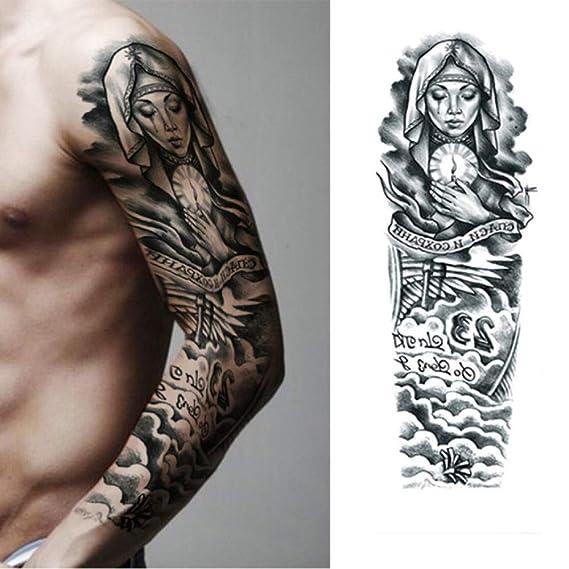 Handaxian 3pcs Pegatinas Tatuaje de la Flor de la Manga del Brazo ...