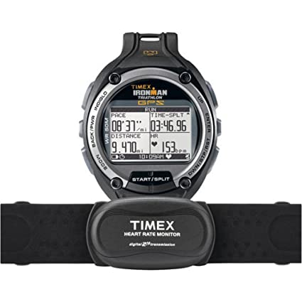 6b07da2fed80 Amazon.com   Timex Global Trainer Speed and Distance with Heart Rate GPS  Watch   Heart Rate Monitors   Sports   Outdoors