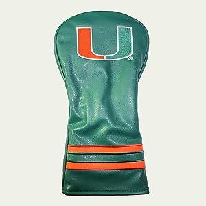Team Golf NCAA Vintage Driver Golf Club Headcover, Form Fitting Design, Retro Design & Superb Embroidery