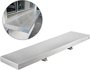 """Happybuy 48 Inch Concession Shelf Stainless Steel Drop Down Folding Serving Food Shelf Stand Serving for Concession Trailer Serving Window (48"""" Lx 12"""" W)"""