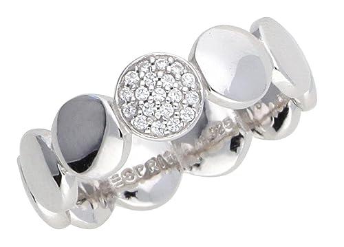 Esprit Damen-Ring 925 Silber rhodiniert Zirkonia weiß Rundschliff