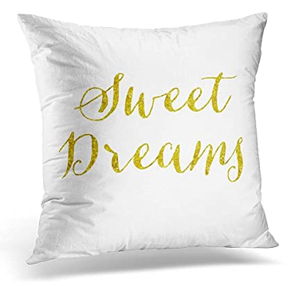 Amazon Throw Pillow Cover Sequins Sweet Dreams Quote Gold Faux Impressive Sweet Dreams Decorative Pillows