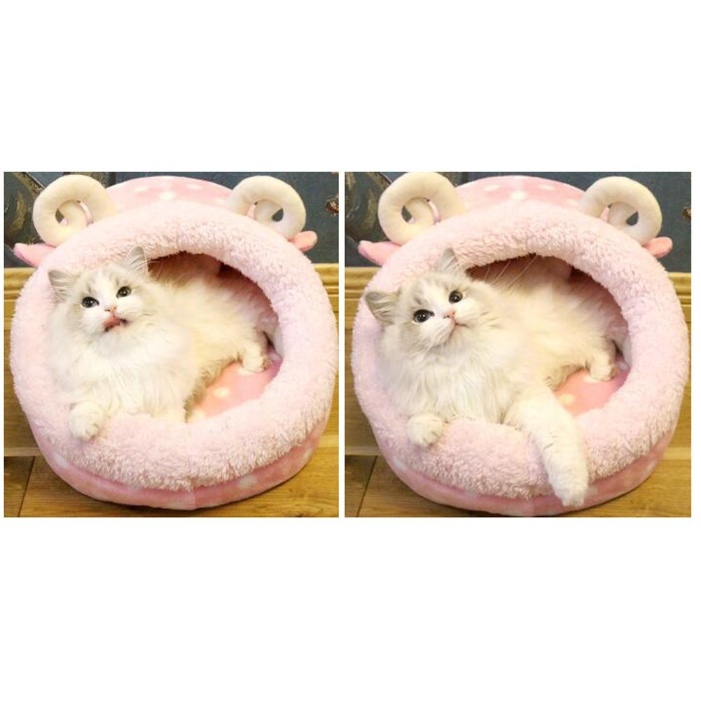 Saymequeen Cute Animal Cake Pet Bed for Small Medium Cat Dog Warm Nest House (cake lamb style) by Pet-Saymequeen (Image #3)