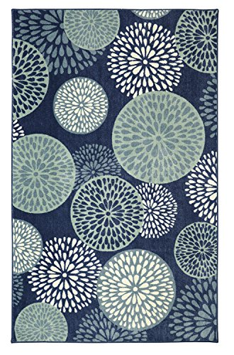 Mohawk Home Aurora Foliage Friends Floral Medallions Printed Area Rug, 7'6x10', (Busy Blue Contemporary Rug)