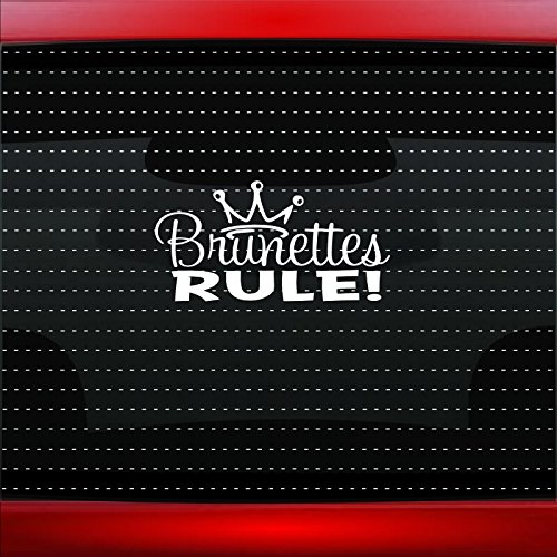 Brunettes Rule Cute Funny Princess Family Mom Car Sticker Truck Window Vinyl Decal COLOR: GOLD]()