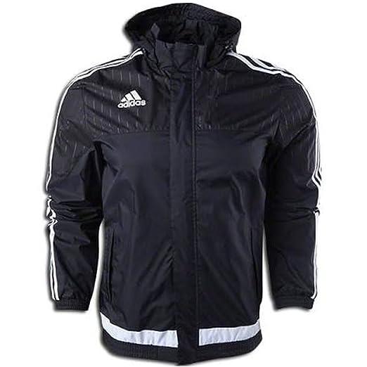 Amazon.com  Adidas Tiro 15 Rain Jacket Black  Sports   Outdoors f3dd72af985c