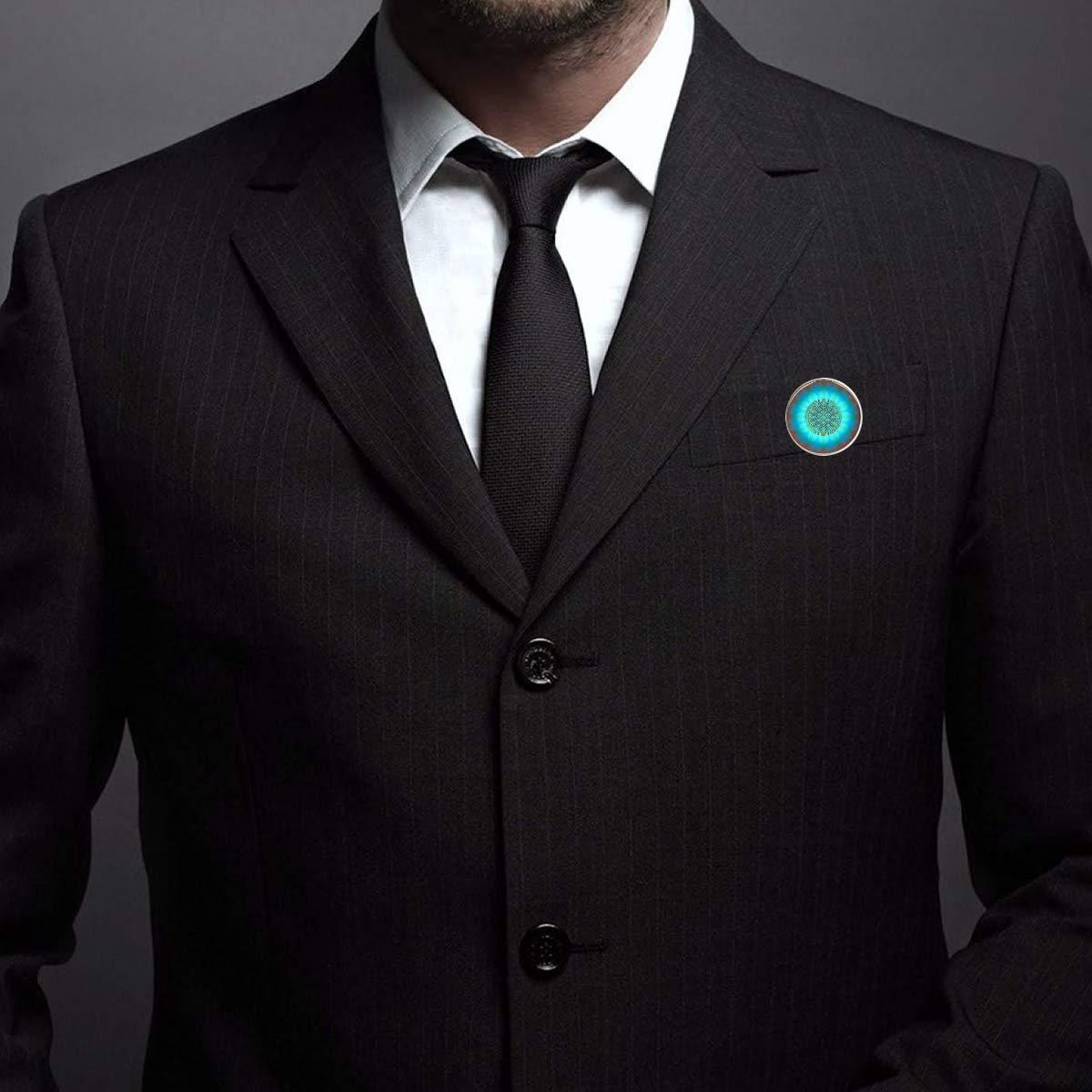 Pinback Buttons Badges Pins Blue Flower Phantom Lapel Pin Brooch Clip Trendy Accessory Jacket T-Shirt Bag Hat Shoe