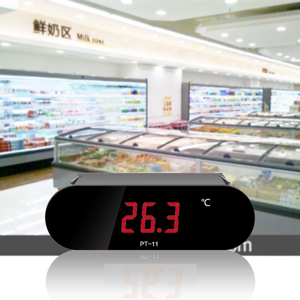 BIlinli /-20~300 ℃ Indicador del medidor de Temperatura del term/ómetro Digital PT-11 con Sensor NTC de 2M