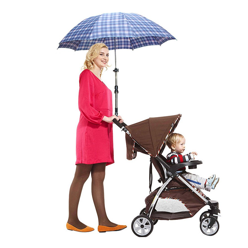Zcargel Baby Stroller UV Protection Clip-On Umbrella Stand Holder Adjustable Sun Canopy Parasol Holder by Zcargel (Image #3)