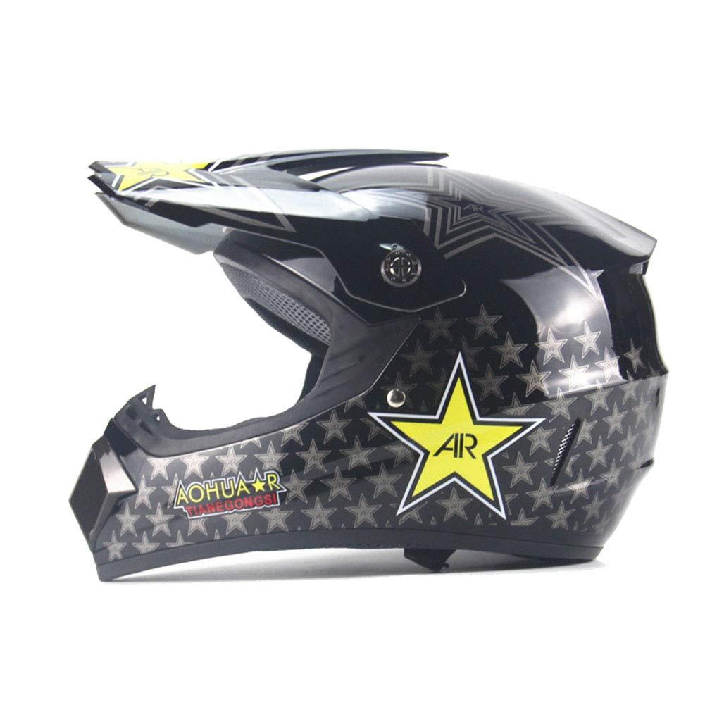 SHOW Cascos Todo Terreno-ATV Casco Moto Integral Ligero para Mujer Hombre Chica Motocicleta Vespa Scooter-Estrella De Cinco Puntas: Amazon.es: Deportes y ...