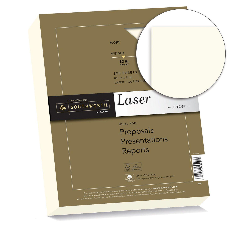 Amazoncom Southworth 25 Cotton Laser Paper