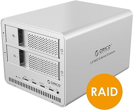 ORICO 9528ru3 2 bahía USB 3.0 SATA HDD, RAID caja para disco duro de 3,5