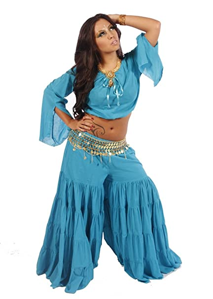 Miss Belly Dance Traje de Cintura y Pantalones de algodón ...