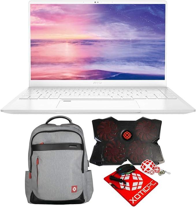 """Amazon.com: MSI Prestige 14 A10SC-051 (i7-10710U, 16GB RAM, 512GB NVMe SSD, GTX 1650 4GB, 14"""" Full HD, Windows 10 Pro) Professional Laptop: Computers & Accessories"""