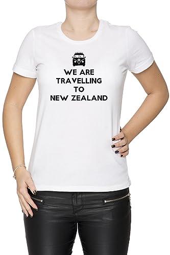 We Are Travelling To New Zealand Mujer Camiseta Cuello Redondo Blanco Manga Corta Todos Los Tamaños ...