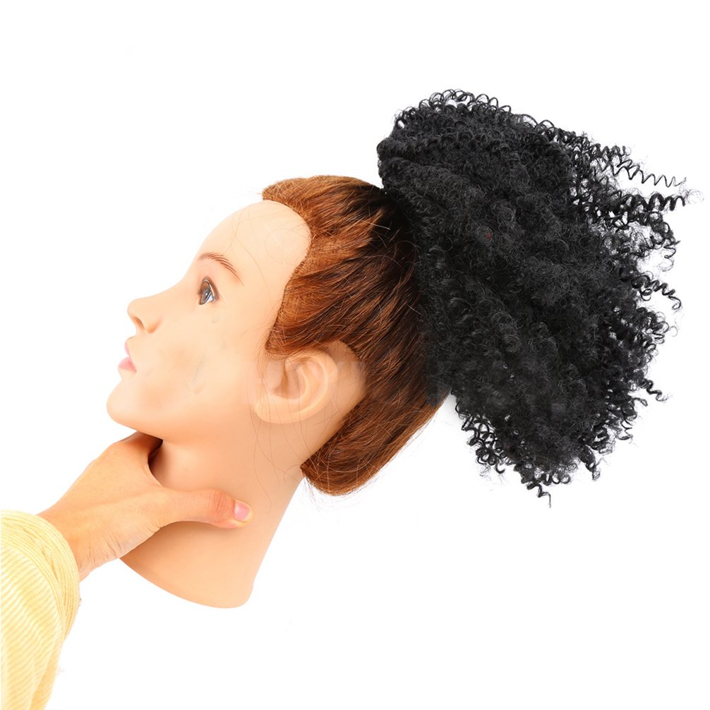 afro puff synthetic kinky curly drawstring ponytails extensions for