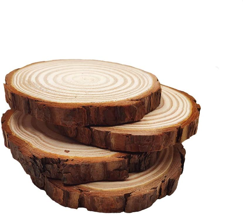 50% Off Coupon – 4 Pieces 4.7-5.5 Unfinished Natural Wood Slices for Your DIY Artwork