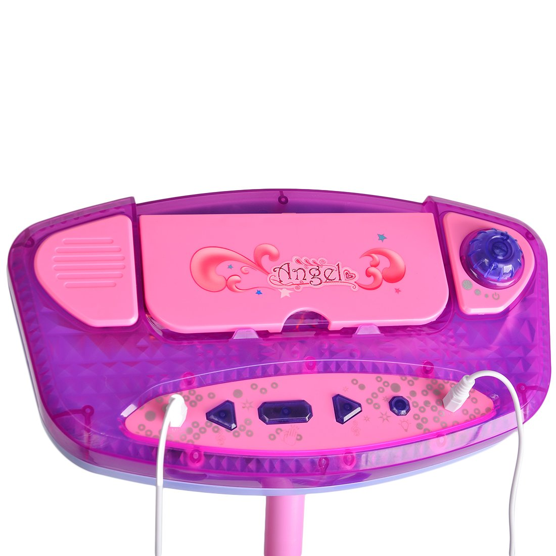 PeleusTech® Karaoke Machine with Adjustable Stand and 2 Microphones Bluetooth Music Toy for Kids - (Pink) by PeleusTech® (Image #6)