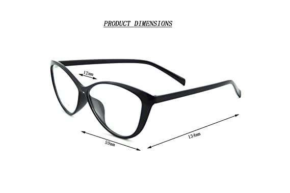 ladies cateye glasses frames blue blocking clear lens computer reading glasses 5865black