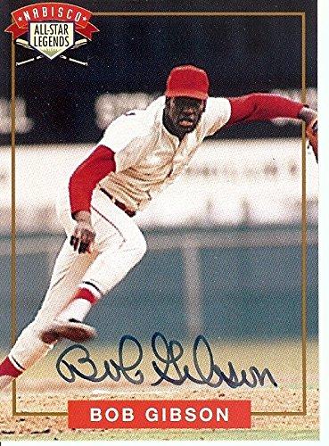 Bob Gibson Signed Autographed Baseball Card 1994 Nabisco St. Louis Cardinals COA