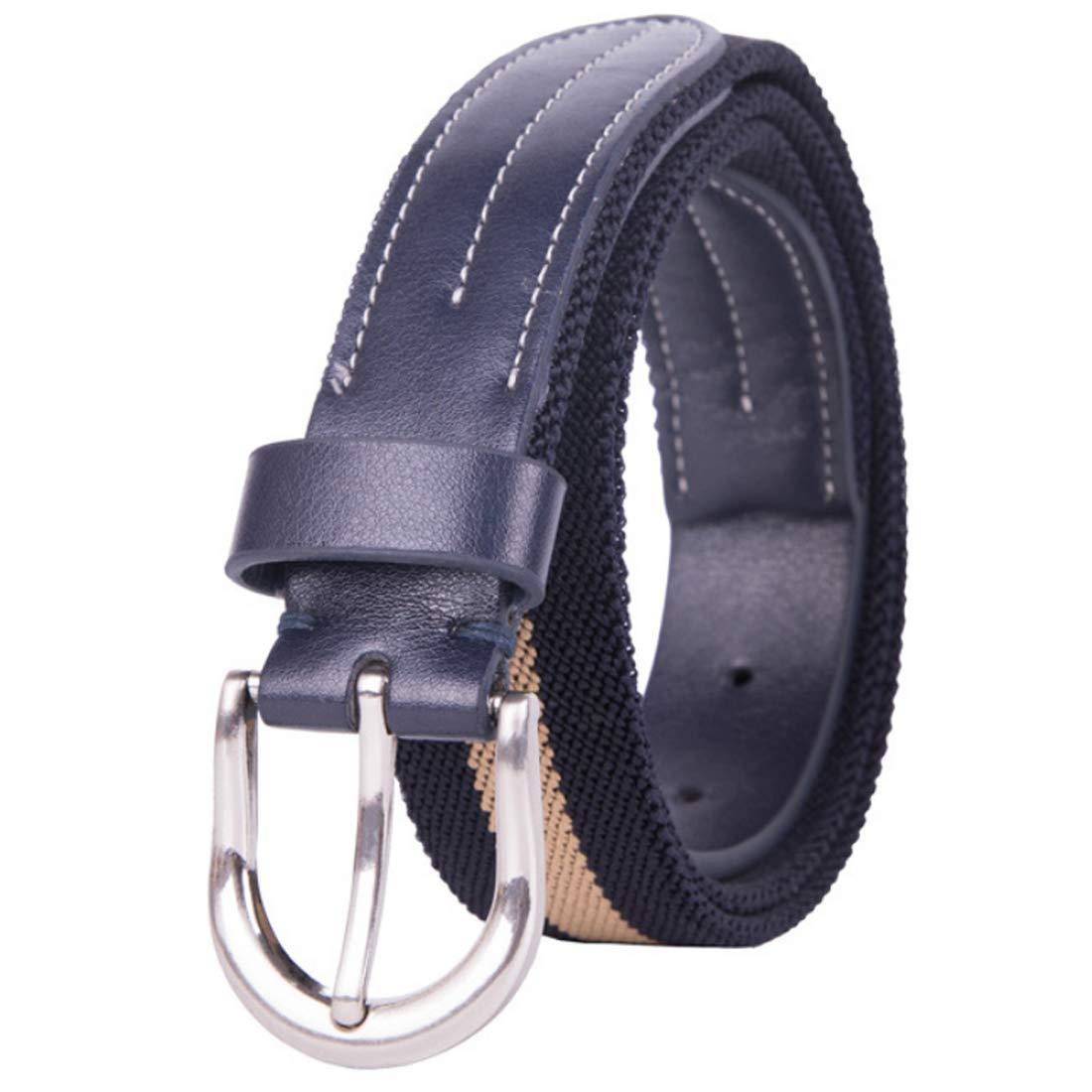 Aiweijia Unisex stretch belt simple striped fashion casual sports belt