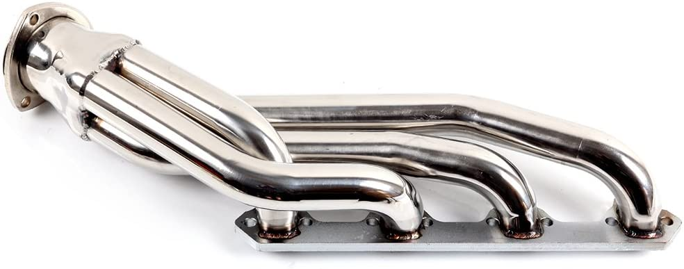 Stainless Steel Header Exhaust Manifold Fits for 1963-1977 Mustang//Cougar 4.7 4.3 5.0L HDSFMCU64260