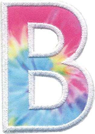 iscream Pastel Color Block Embroidered Accent Alphabet Initial 2.5 Adhesive Back Patch