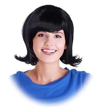 Amazon Com Black Flip Wig Jackie Kennedy Costume Wig Jackie Wig Betty Wig Costume Linda Wig Beauty
