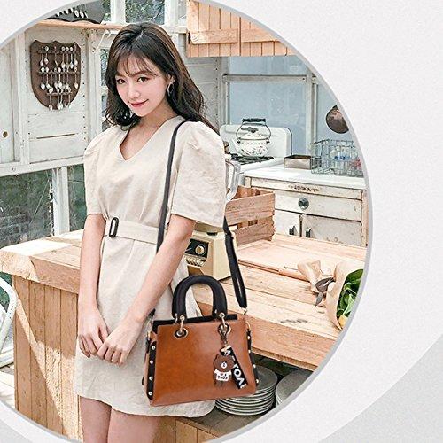 Bag Casual la Moda Hombro Verano Cuero Tendencia Messenger de de de Bolso la Earthy de Las Coreana de Bolso PU Mujeres fFPZHPq