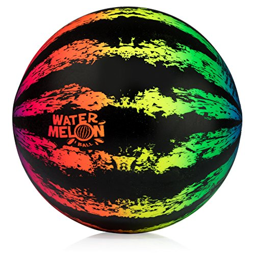 Watermelon Ball JR - Pool Toy for Underwater Games - Durable Ball for Pool Football, Basketball & Rugby - Perfect for Water Parties - Fun for Adults & Kids Alike - Fillable Pool Ball - Ages 6+ ()