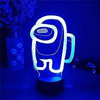 Among_us Nachtlampje 3D Illusie Astronaut Games Karakter Tafellamp USB Aangedreven 7 Kleuren LED Verlichting met Touch…
