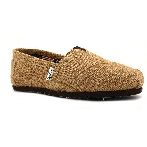 TOMS - Mocasines de lona para hombre, color marrón, talla 44: Amazon.es: Zapatos y complementos