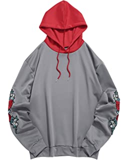 Amazon.com: ZAFUL - Chaqueta con capucha unisex con números ...