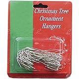 "50ct Large Jumbo Silver Colored Metal Christmas Ornament Hooks 2.5"""
