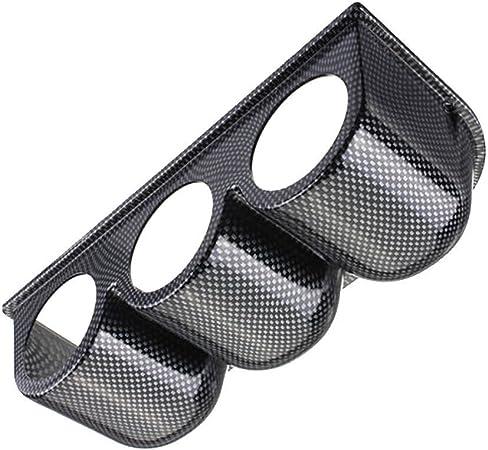 Supmico Kohlefaser 52mm Universal Drei Loch Gauge Pod Halter Halterung Bracket Instrumentenhalter Gewerbe Industrie Wissenschaft