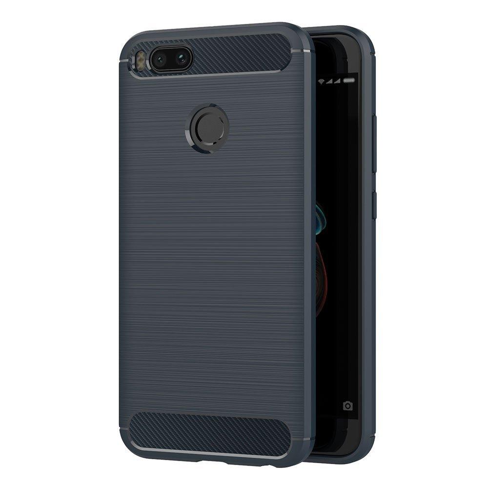 Funda Xiaomi Mi 5X / Xiaomi Mi A1, AICEK Negro Silicona Fundas para Xiaomi Mi 5X Carcasa Xiaomi 5X Fibra de Carbono Funda Case (5,5 Pulgadas) XMM5X