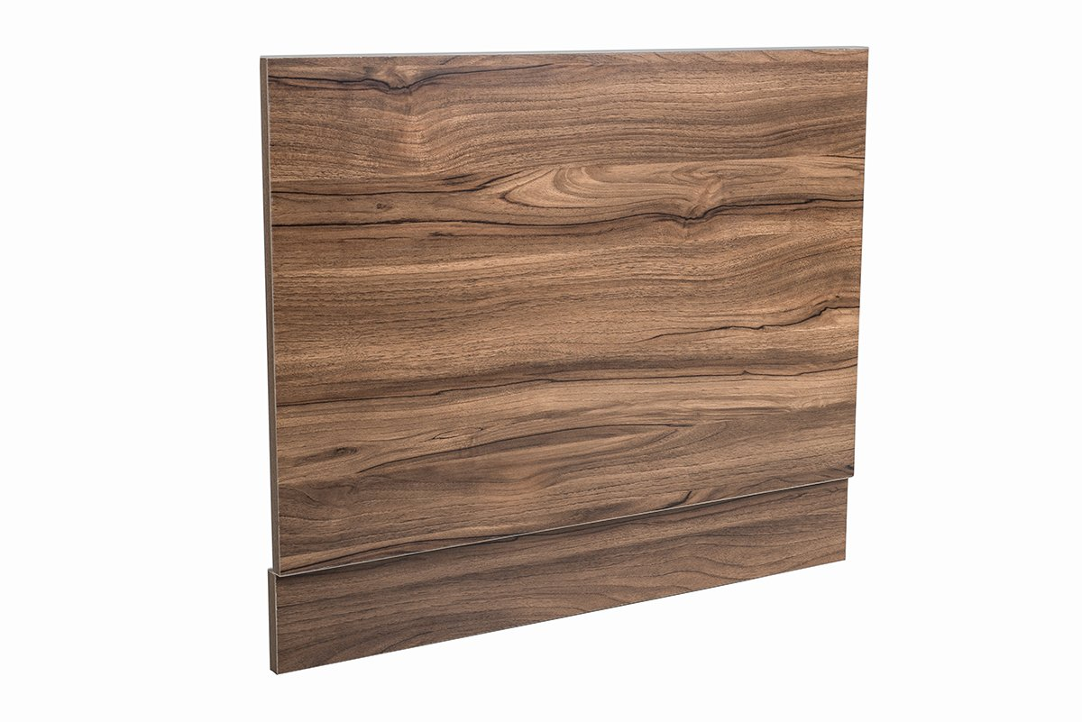 Aquariss 700 mm Walnut Effect Front Straight Wrapped Wood Bath Panel