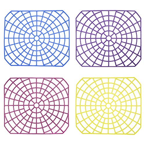 - FRASTO Sink Mat Protector Set of 4 MULTI COLORS - Rubber Mat for Sink - Best Mat for Kitchen Sink Protector